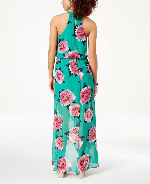 e1ecce21a City Studios Juniors  Printed High-Low Dress - Dresses - Juniors ...