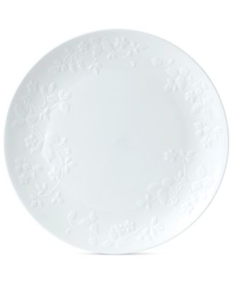 Wild Strawberry White Dinner Plate