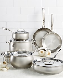 Belgique 11-Pc. Stainless Steel Cookware Set, Created for Macy's