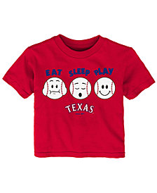 Outerstuff Texas Rangers Eat, Sleep, Play T-Shirt, Infant Boys (12-24 Months)