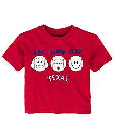 Outerstuff Texas Rangers Eat, Sleep, Play T-Shirt, Infant Boys (12-24 Months)