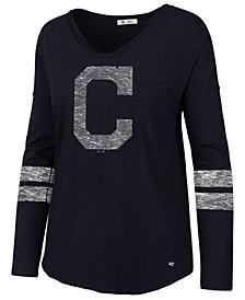 '47 Brand Women's Cleveland Indians Court Side Long Sleeve T-Shirt