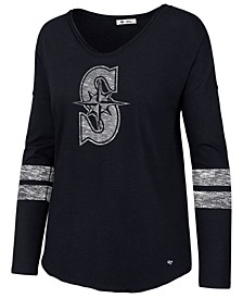 Women's Seattle Mariners Court Side Long Sleeve T-Shirt