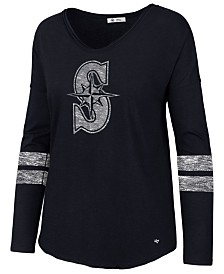 '47 Brand Women's Seattle Mariners Court Side Long Sleeve T-Shirt