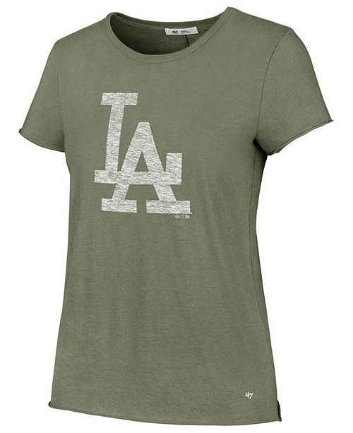 '47 Brand Women's Los Angeles Dodgers Olive Fader T-Shirt