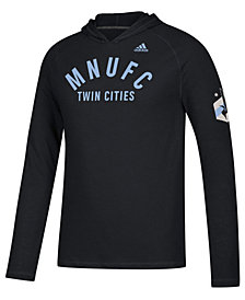 adidas Men's Minnesota United FC Squared Ring Hooded T-Shirt