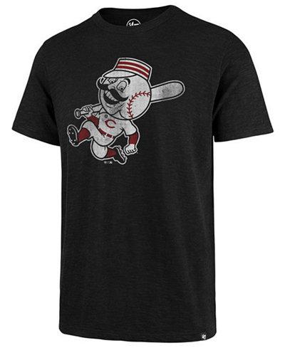 '47 Brand Men's Cincinnati Reds Scrum Logo T-Shirt