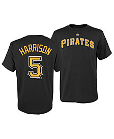Majestic Josh Harrison Pittsburgh Pirates Official Player T-Shirt, Big Boys (8-20)