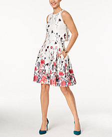 Ivanka Trump Floral-Print Popover Dress