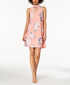 Ivanka Trump Floral-Print Choker Dress