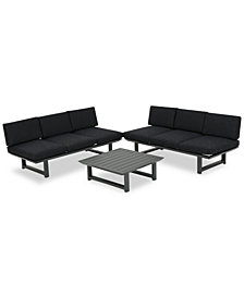 Merrill 3-Pc. Outdoor Sofa Set, Quick Ship