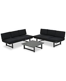 Merrill 3-Pc. Outdoor Sofa Set, Quick Ship