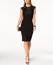 Betsy & Adam Banded Sheath Dress