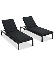 Powell Chaise Lounge (Set of 2), Quick Ship