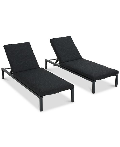 Furniture Powell Chaise Lounge (Set of 2), Quick Ship