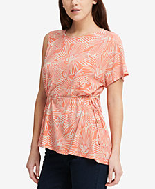 DKNY Printed Asymmetrical Top, Created for Macy's