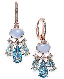 Danori Silver-Tone Crystal Small Chandelier Earrings, Created for Macy's