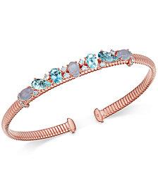 Danori Crystal & Stone Cuff Bracelet, Created for Macy's