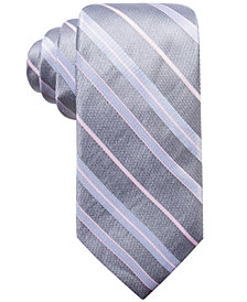 Ryan Seacrest Distinction™ Men's Robson Stripe Slim Silk Tie, Created for Macy's