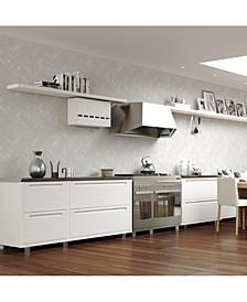 Lustro Silver Wallpaper
