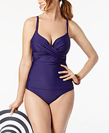 Island Escape Underwire Push-Up Tankini Top & Bottoms, Created for Macy's