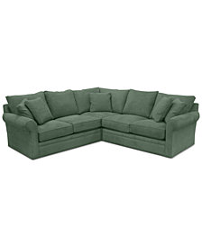 "Doss II 3-Pc. Fabric ""L"" Loveseat Sectional"