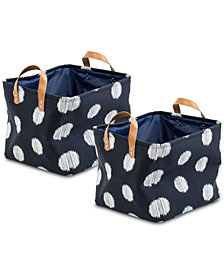 Honey Can Do Coastal Collection 2-Pc. Printed Decorative Storage Bin Set
