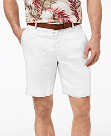 Tasso Elba Men's Classic-Fit Linen Chino Shorts, Created for Macy's