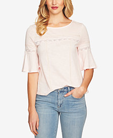 CeCe Ruffled-Sleeve Top