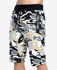 True Religion Men's Drawstring Camo Shorts