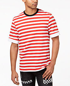 Jaywalker Men's Stripe Cuffed-Sleeve T-Shirt