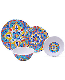 222 Fifth Romella 12-Pc. Melamine Dinnerware Set