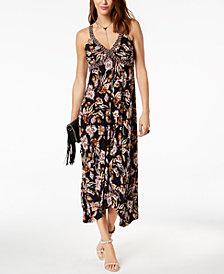 I.N.C. Printed Handkerchief-Hem Dress, Created for Macy's