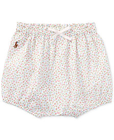 Ralph Lauren Floral-Print Cotton Bloomer, Baby Girls
