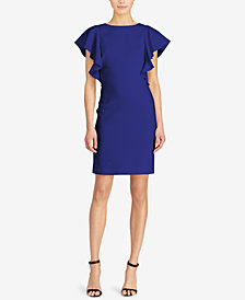 Lauren Ralph Lauren Flutter Sleeve Sheath Dress