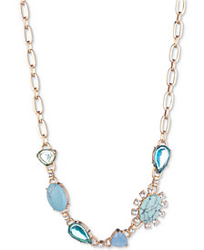 """Carolee Gold-Tone Colored Stone 16"""" Collar Necklace"""