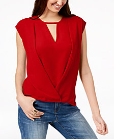 I.N.C. Keyhole Crossover Top, Created for Macy's