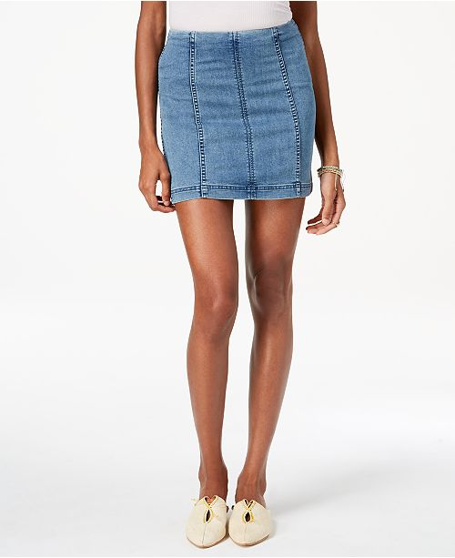 7ff22cbecf Free People Modern Femme Denim Mini Skirt & Reviews - Skirts - Women ...