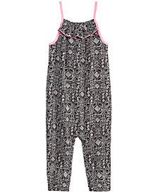 Epic Threads Little Girls Flamingo-Print Romper, Created for Macy's
