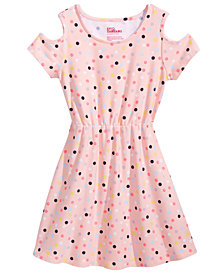 Epic Threads Little Girls Printed Cold Shoulder Super-Soft Dress, Created for Macy's