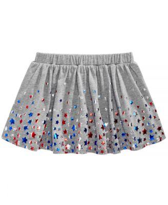 Little Girls Star-Print Skirt, Created for Macy's