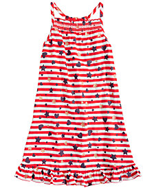 Epic Threads Little Girls Printed Smocked-Front Dress, Created for Macy's