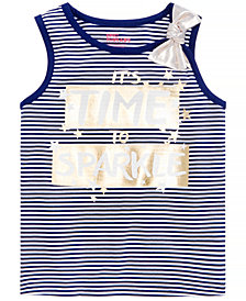 Epic Threads Little Girls Striped Graphic-Print Tank Top, Created for Macy's