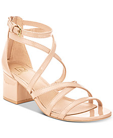 Material Girl Inez Block-Heel Sandals, Created for Macy's
