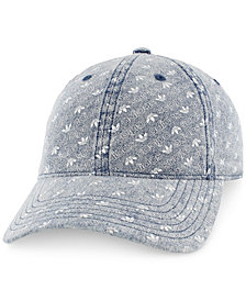 adidas Men's Originals Logo-Print Relaxed Denim Cap