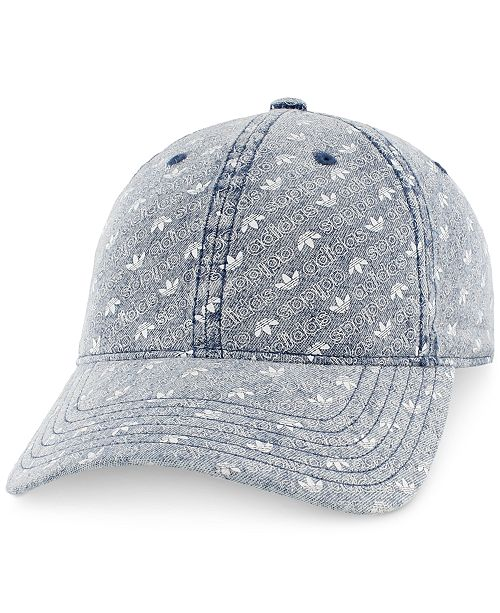 adidas Men s Originals Logo-Print Relaxed Denim Cap - Hats 1171df1fa206