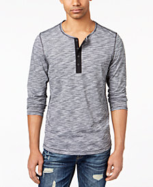 American Rag Men's Summer Henley, Created for Macy's