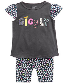 First Impressions Baby Girls Printed Top & Bermuda Shorts Separates, Created for Macy's