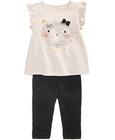 Baby Girls Cheetah-Print T-shirt & Leggings Separates, Created for Macy's