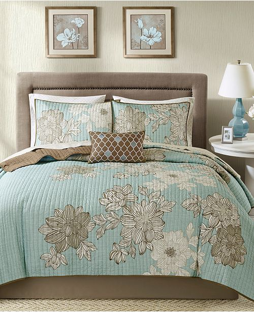 Madison Park Avalon 8-Pc. California King Coverlet Set